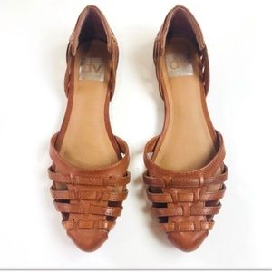 Dolce Vita Cognac D'Orsay Weaved Flats